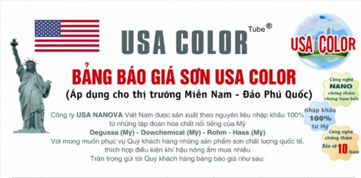 Bảng giá sơn USA COLOR