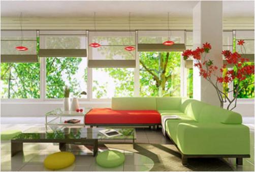 'Nổi loạn' trong phòng khách với sắc màu ấn tượng